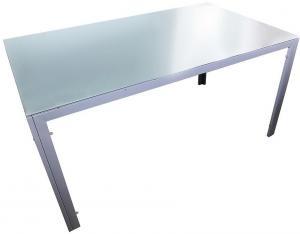 Sklenený stôl Bergen 73x90x150cm farba šedá