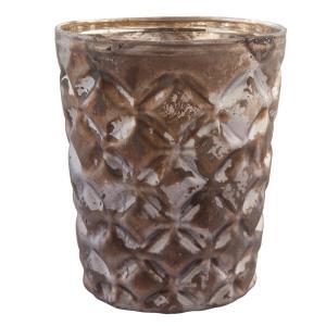 Sklenený svietnik na čajovú sviečku - Ø 7 * 8 cm