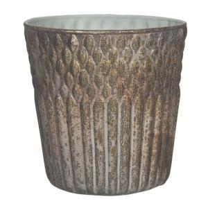 Sklenený svietnik na čajovú sviečku Loring - Ø 13*13 cm