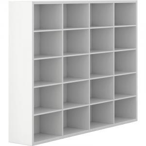 Skriňa otvorená, dlhá, White LAYERS, biele police biela biela bez dverí 16 400 2350 1795 LAYERS