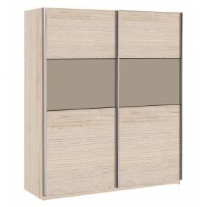 Skriňa s posuvnými dverami, dub arizona/sivá, GRAPHIC