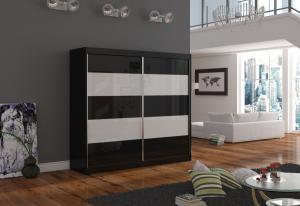 Skriňa s posuvnými dverami Gracien 180 cm čierna