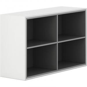 Skrinka otvorená Gray LAYERS biela sivá bez dverí 2 400 1200 750 LAYERS