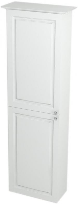 Skrinka vysoká , úzka, VIOLETA , 40 x 140 x 20, biela pololesk - Pravá
