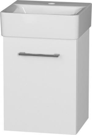 Skrinka závesná, úzka, CONNECT 40-01, s keramickým umývadlom L/P - Lavá / A