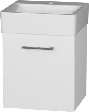 Skrinka závesná, úzka, CONNECT 50-01, s keramickým umývadlom L/P - Pravá / C