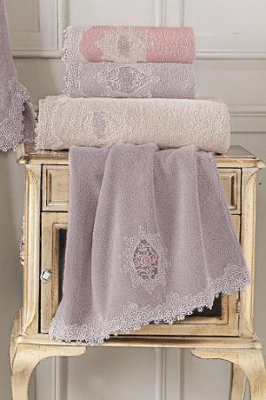 Soft Cotton Darčekové balenie županu, uteráku a osušky DESTAN Staroružová XL