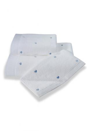 Soft Cotton Uterák MICRO LOVE 50x100 cm. Luxusné froté uteráky MICRO LOVE 50x100 cm zo 100% česanej Micro bavlny - mikrovlákna. Veľmi jemné, savé a rýchloschnúce. Biela / modré srdiečka