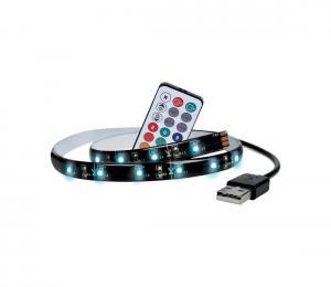 Solight WM504 - SADA 2x LED RGB Pásik pre TV s ovládačom IP65 LED/USB 50cm