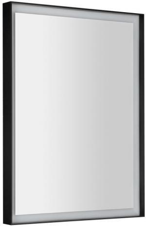 Sort LED ST080 podsvietené zrkadlo 60x80 cm, matný čierny rám