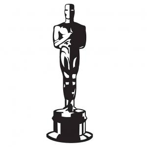 Soška Oscar - Nálepka na stenu _px300