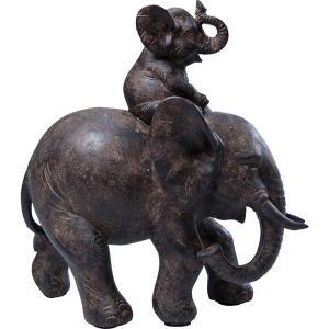 Soška Slon s mládětem 19cm