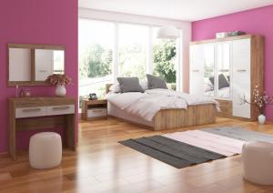 Spálňa Maximus WIP 13 Farba: dub burgund/biela lesk