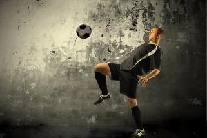 Športové fototapety Futbalista 283 - latexová