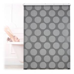 Sprchová roleta sivé bodky RD2539, 60x240-160x240
