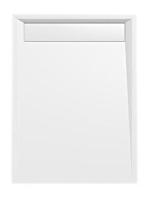 Sprchová vanička obdlžniková VARESA 120x80, 120x90 s líniovým odpadom - 90