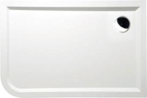 Sprchová vanička oblúk STYX 120 x 80 x 4, liaty mramor - Pravá