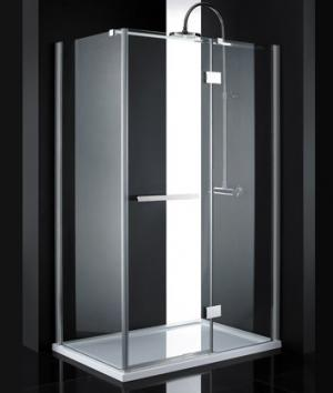 Sprchový kút 120x80 Aquatek CRYSTAL R23 - Silver