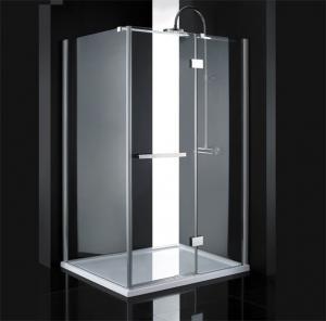 Sprchový kút 140x80 Aquatek CRYSTAL R43 - Silver