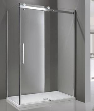Sprchový kút 140x80 Aquatek TEKNO R43 - Pravá / Silver
