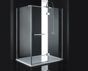 Sprchový kút 140x90 Aquatek Crystal R53 - čire / Šedá