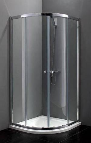 Sprchový kút 80x80, 90x90, Aquatek MASTER S4 rám-chrom - 80 / čire / Šedá