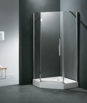 Sprchový kút 90x90 Aquatek BETTER P3 - 195 / Pravá / čire / Biela