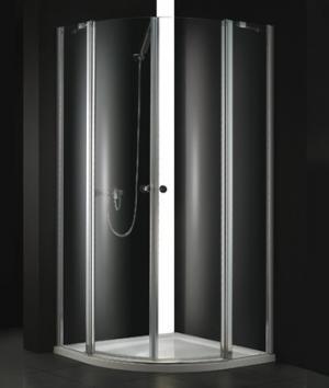 Sprchový kút 90x90 Aquatek GLASS S6 - frost (mliečne) / Transparent