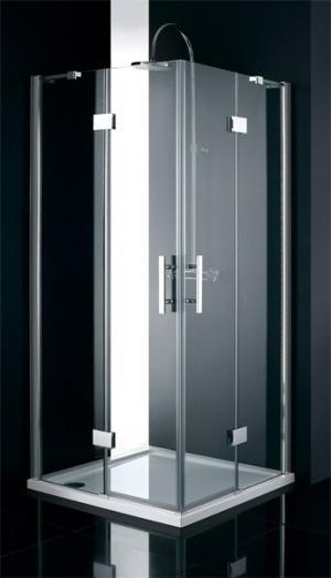 Sprchový kút 90x90 štvorec Aquatek CRYSTAL A4 - čire / Cocoa