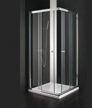 Sprchový kút Aquatek MASTER A4 rám-chrom 80, 90 - 80 / matne / Jasmine