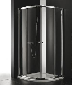 Sprchový kút Aquatek MASTER S4 rám-biely 80,90 - 90 / čire / Transparent