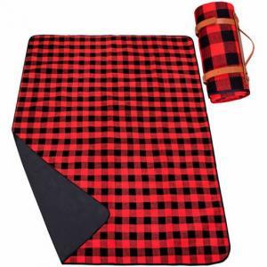 SPRINGOS Pikniková deka 200 x150cm - červené káro