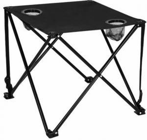 SPRINGOS Rozkladací kempingový stôl 46cm - čierny