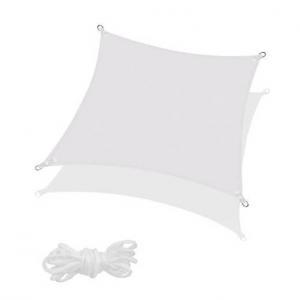 SPRINGOS Tieniaca plachta štvorec 500x500cm - svetlo sivá