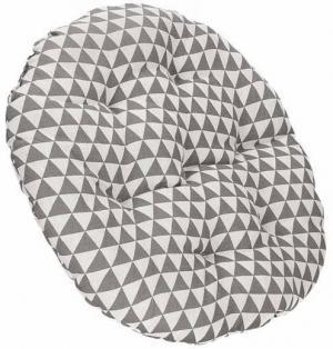 SPRINGOS Záhradný vankúš na hojdačku - 53 cm - sivo biely