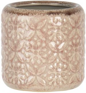 Staroružový kvetináč so vzorom a patinou - Ø 10 * 10 cm