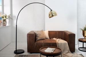 Stojaca lampa Big Bow zlatá 170 až 210 cm