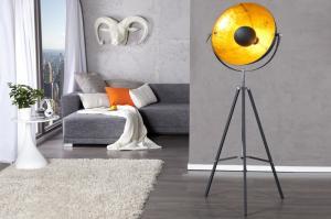Stojaca lampa Big Studio 160cm čierna - zlatá