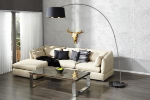Stojaca lampa Forma čierna-zlatá