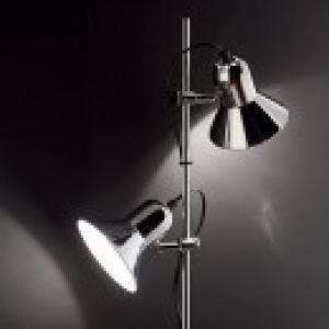 stojaca lampa Ideal lux POLLY 061115 - strieborná
