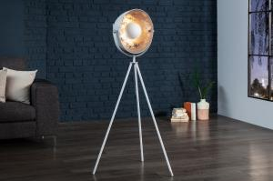 Stojaca lampa Studio 140 cm biela - strieborná