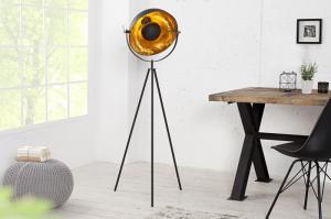 Stojaca lampa Studio 140 cm čierna - zlatá
