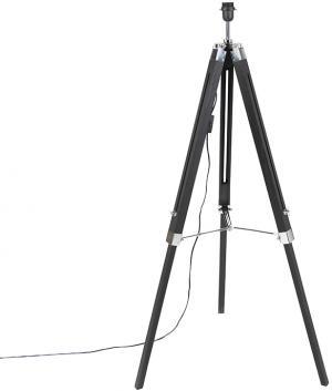 Stojacia lampa čierna bez tienidla - Statív