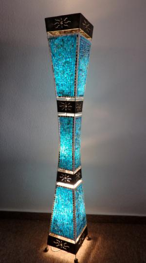 Stojacia lampa WAJAN - modrá, 150 cm