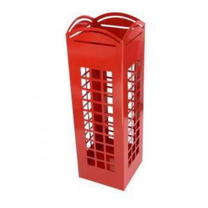 Stojan na dáždniky INVOTIS English Phone, červený