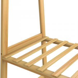 Stojan na oblečenie Nordik s kolieskami - bambus