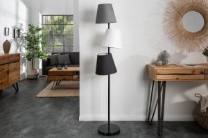 Stojanová lampa Shadow, 163 cm, čierna