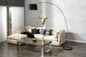 Stojanová lampa SHAPE čierno zlatá