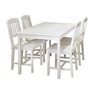 Stôl + 4 stoličky 8849 biely lak