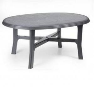 Stôl DANUBIO antracit ratan efekt